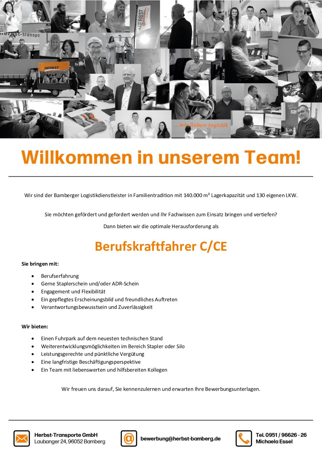 Willkommen In Unserem Team! – Berufskraftfahrer C/CE (m/w/d) Gesucht.
