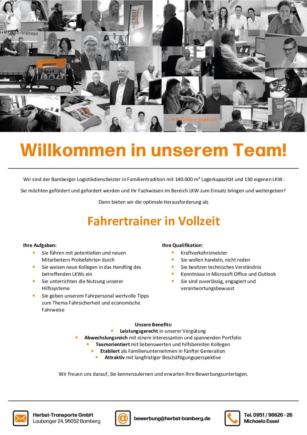 Willkommen In Unserem Team! – Fahrertrainer (m/w/d) Gesucht
