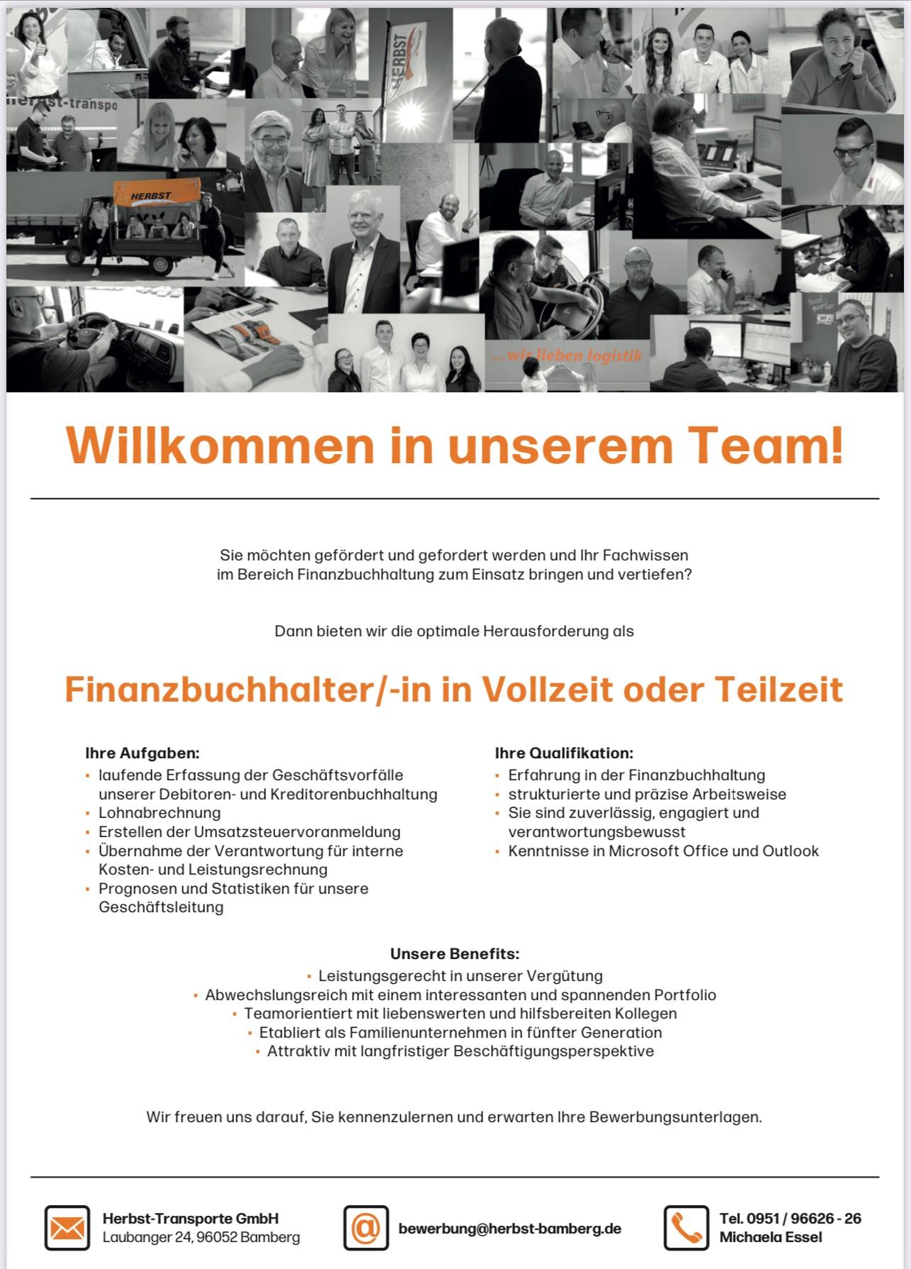 Willkommen In Unserem Team! – Finanzbuchhalter/-in In Vollzeit Oder Teilzeit Gesucht