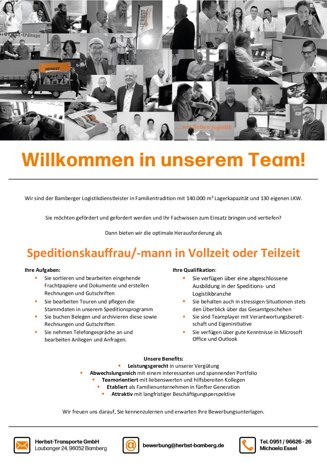 Willkommen In Unserem Team! – Speditionskauffrau/-mann In Vollzeit Oder Teilzeit Gesucht